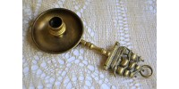 HMS Victory Brass Candlestick with Drip Tray