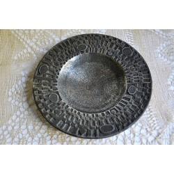 Modernist brutalist cast steel bowl by Olav Joff 1960