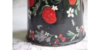 Récipient en tôle peinte, art populaire ancien
