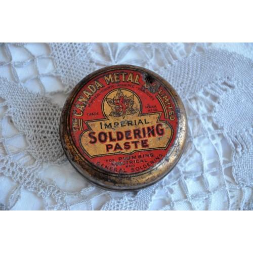 Canada Metal Co Soldering Paste Tin Box