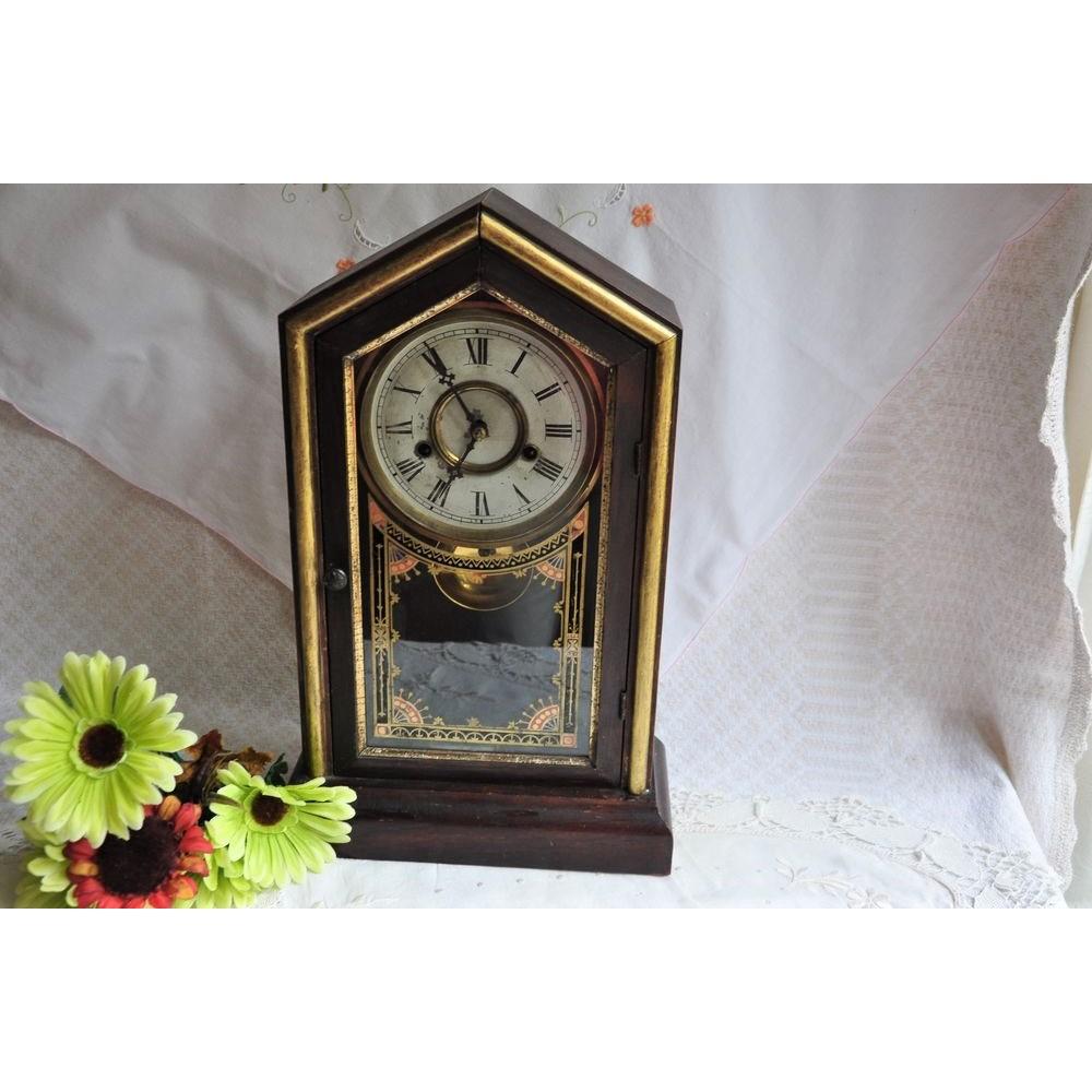 Horloge De Bureau Originale horloge 19e new haven clock co. tuscan fonctionnelle