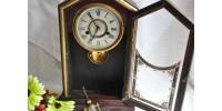 Horloge 19e New Haven Clock Co. fonctionnelle