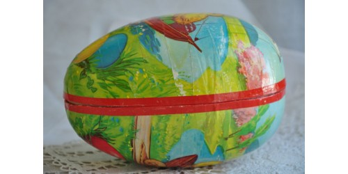 Papier Mache Egg-Shaped Chocolate Easter Box
