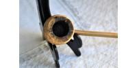 Pipe vintage en épi de maïs à tuyau en bambou