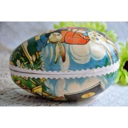 Papier Mâche Egg-Shaped Chocolate Easter Box