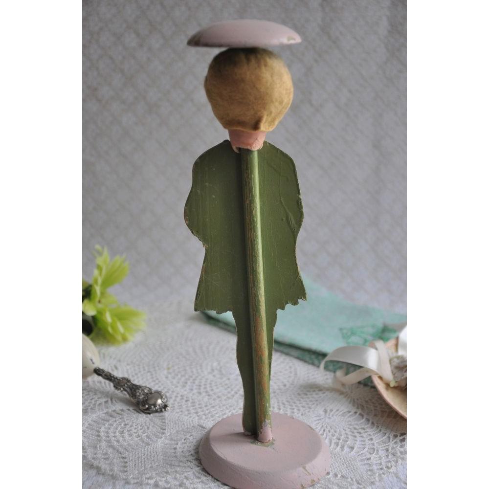 Porte chapeau fillette art d co bois peint vintage 1920 1930 - Porte art deco ...