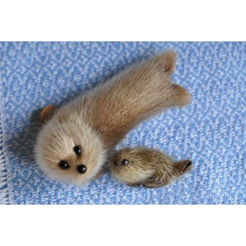 Inuit Stuffed Seal Skin Animal Figurines