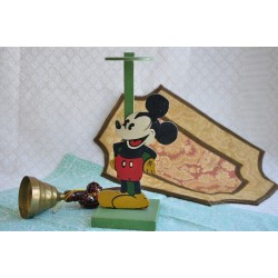 Vintage Figural Mickey Mouse Wood Hat Stand