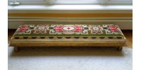 Long Antique Victorian Low Bench or Window Seat