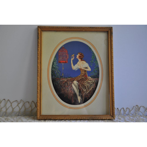 Litho ancienne « My Songbird » de Marcel Le Boulte