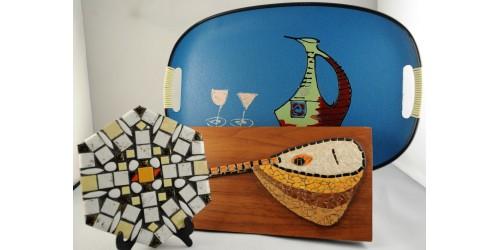 Objets décoratifs vintage années 1960-1970