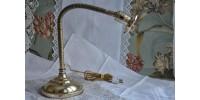 Ancienne lampe de bureau en laiton 1900