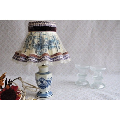 Blue Delfts Hand-Painted Miniature Night Lamp