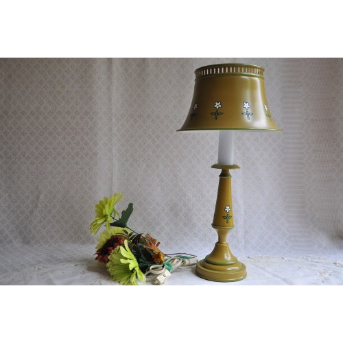 Vintage Painted Tole Table Lamp