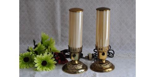 Paire de lampes tubulaires Art déco 1930