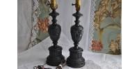 Lampes de style néoclassique en régule