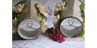 Lampes de chevet à fleurs romantiques
