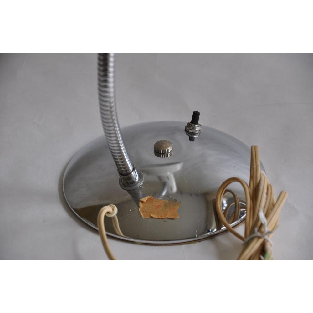 lampe col de cygne orientable pliable base chrome lampe d atelier ou de bureau vintage. Black Bedroom Furniture Sets. Home Design Ideas