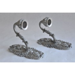 Vintage Seagull Pewter Wall Sconces