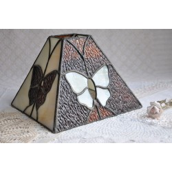 Stained Glass Shade with Butterflies