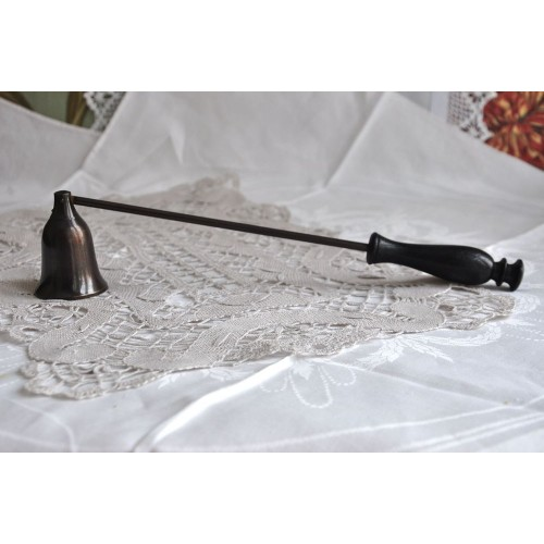Black Wood and Metal Candle Snuffer
