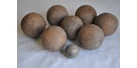 Antique Wood Bocce Balls Game Set