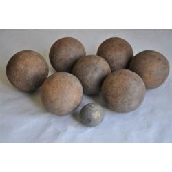 Antique Wood Bocce Balls Game Set