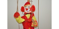 Toy Clown Marionette Puppet Handcrafted