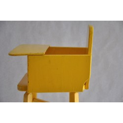 Handmade Primitive Wood Doll High Chair