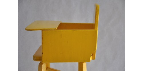 Handmade Primitive Wooden Doll High Chair