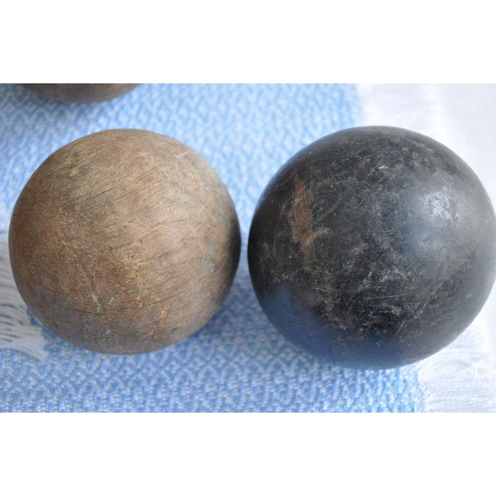Boule de croquet ou de p tanque anglaise vintage taylor for Poids boule de petanque