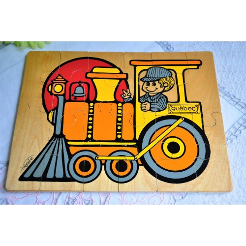 Vintage Handcrafted in Quebec Child Puzzle