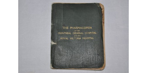 Pharmacopeia Montreal General and Royal Vic Hospitals 1910