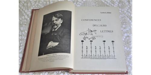 Conférences, discours et lettres, Cyrille F. Delâge