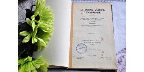 La bonne cuisine canadienne, Québec 1929