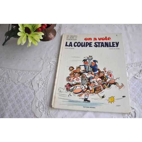 Vintage Comic Book on Quebec Hockey