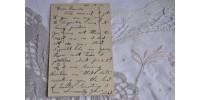 Carte postale de Pâques brodée sur soie 1900