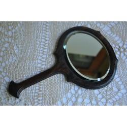 Small French Edwardian Ebony Hand Mirror