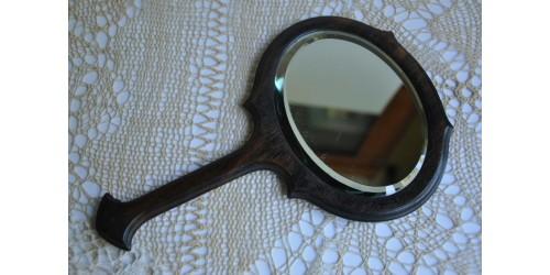 Petit miroir à main des années 20 en ébène