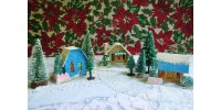 Petit village de Noël avec maisons et sapins - 2