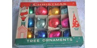 Boîte Fantasia Brand de boules de Noël anciennes