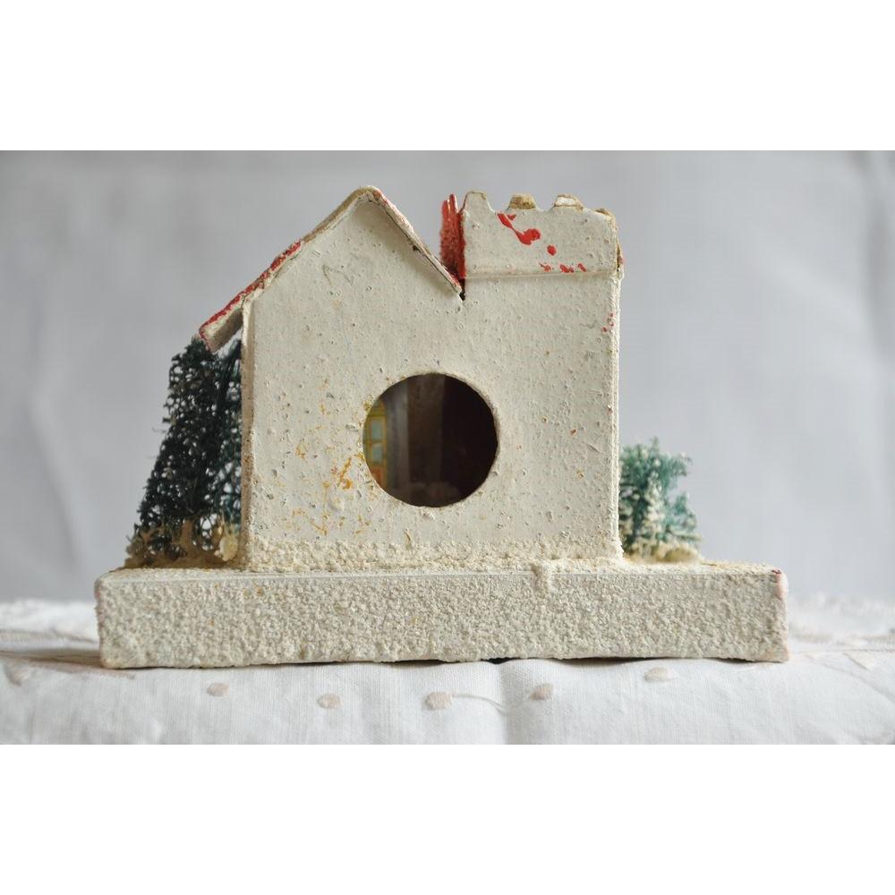 maisonnette de no l vintage maison village de no l en carton japan d cor de no l r tro 1940. Black Bedroom Furniture Sets. Home Design Ideas