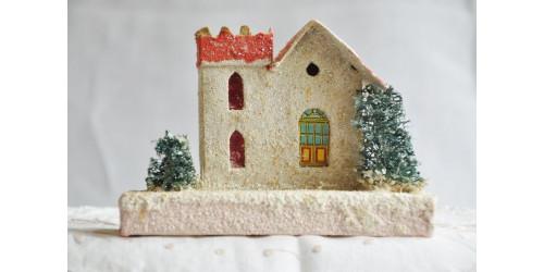 Maisonnette de Noël en carton années 30-40