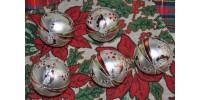 Boules de Noël rétro en verre peintes à la main