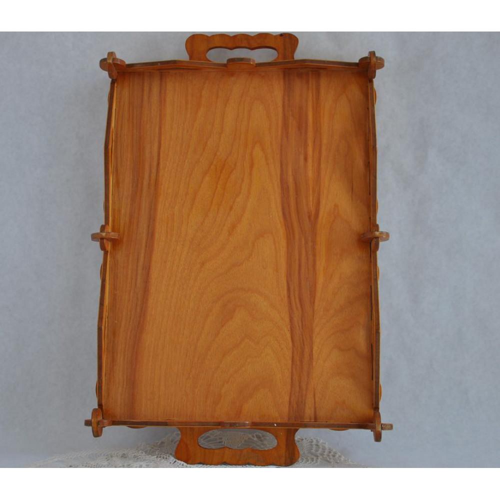 plateau de service en bois ajour d coup artisanal. Black Bedroom Furniture Sets. Home Design Ideas