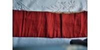 Ancienne étole de messe en soie gaufrée