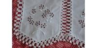 Exceptionnel tablier de coton blanc ancien