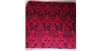 Rare couverture d'appoint en laine réversible