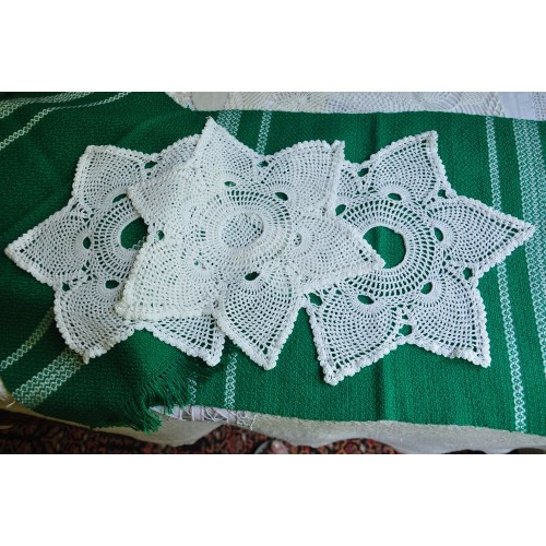 Six Point Star Doilies for Church Candlesticks