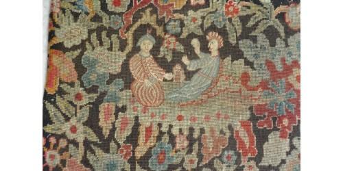 Tapisserie d'écran de cheminée, motif primitif